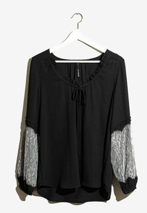 Kay Celine Top XS / Black Pleasant Top in Black