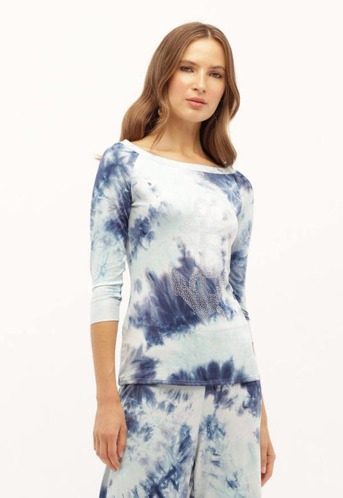 Kay Celine Top XS / Blue-Cloud Anchor's Away Top