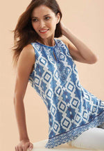 Kay Celine Top XS / Blue Reflections Reflections Tank in Blue