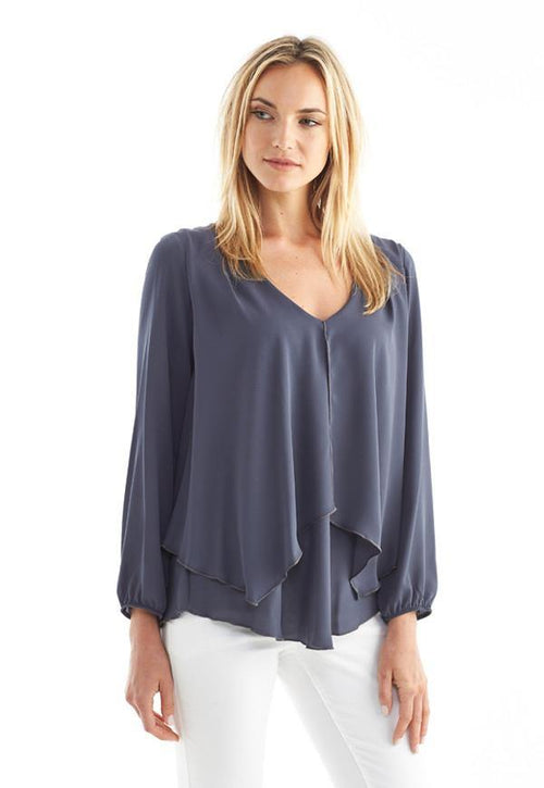 Kay Celine Top XS / Charcoal Darcy Blouse in Charcoal