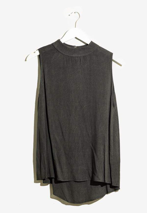 Kay Celine Top XS / Charcoal Sheila Suede Top in Charcoal