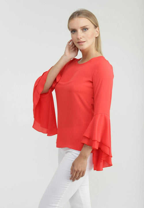 Kay Celine Top XS / Coral Jessalyn Blouse in Coral