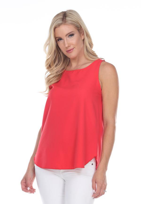 Kay Celine Top XS / Coral Perfectly Basic Tank in Coral