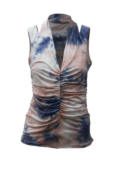 Kay Celine Top XS / Cotton-Candy Tie Dye Tank in Cotton Candy