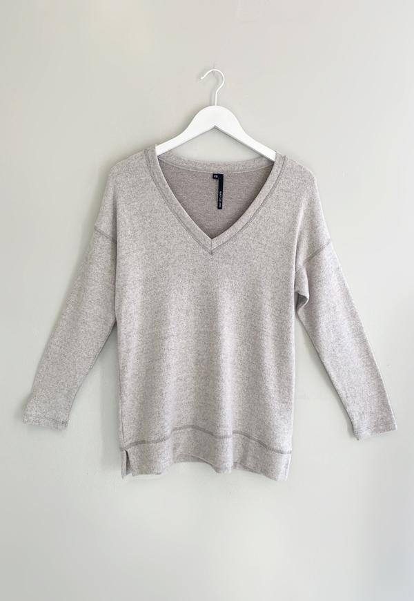 Kay Celine Top XS / HGREY Becky Cashmere Knit in Heather Grey