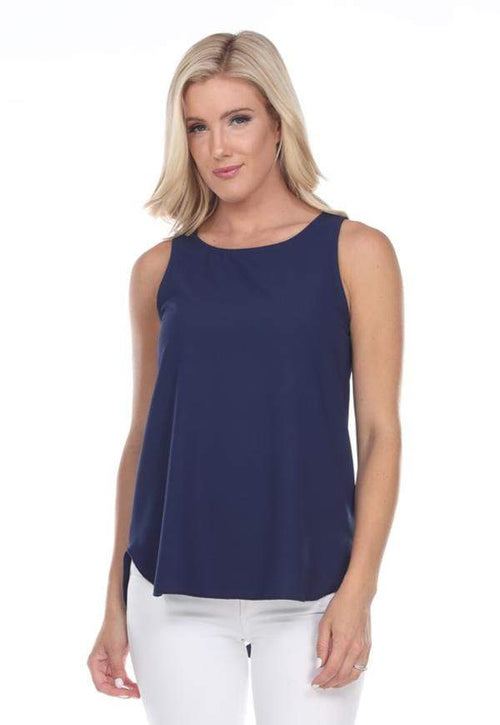 Kay Celine Top XS / Navy Perfectly Basic Tank in Navy