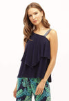 Kay Celine Top XS / Navy Right Moves Tank in Navy