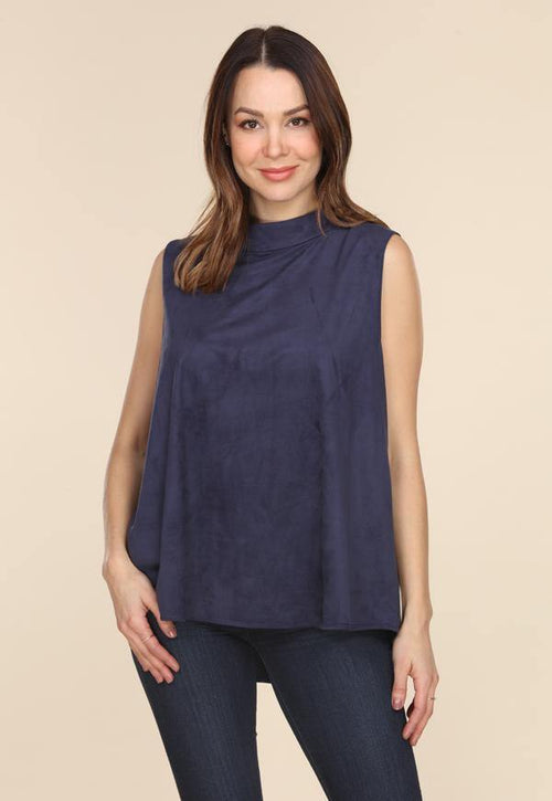 Kay Celine Top XS / Navy Sheila Suede Top in Navy