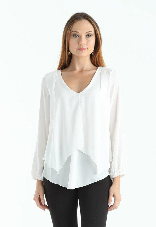 Kay Celine Top XS / Off-White Darcy Blouse in Off White