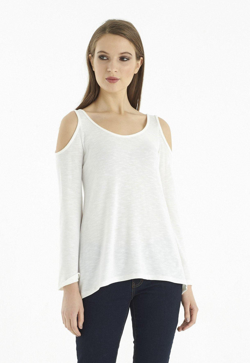Kay Celine Top XS / Off-White Eden Textured Knit Top in Off White