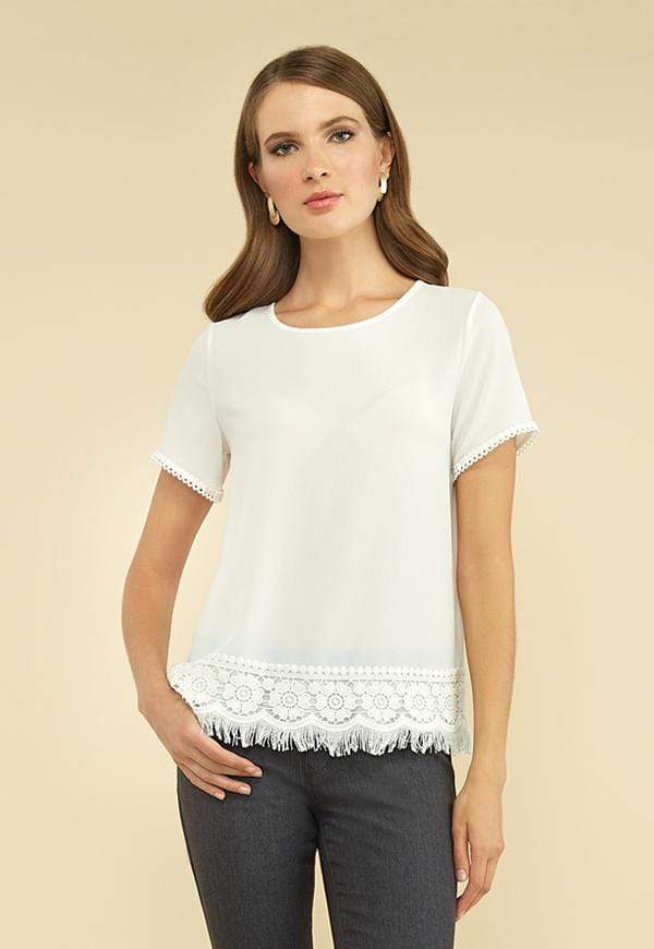 Kay Celine Top XS / Off-White On the Fringe Top in Off White