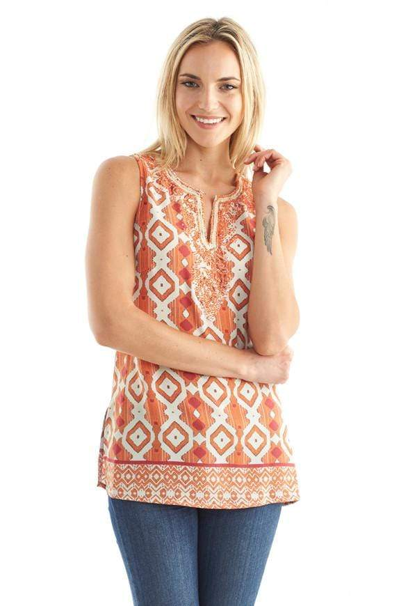 Kay Celine Top XS / Orange Reflections Reflections Tank in Orange