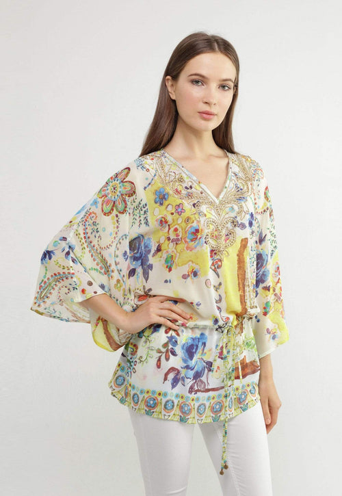 Kay Celine Top XS / Paris Paris Beaded Tunic