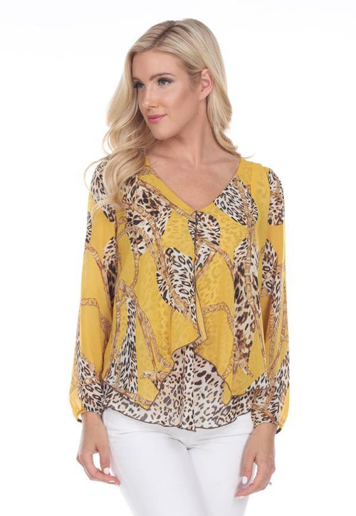 Kay Celine Top XS / Print-180-179 Darcy Mixed Print Blouse