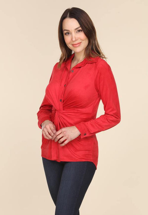 Kay Celine Top XS / Red Camille Blouse in Red