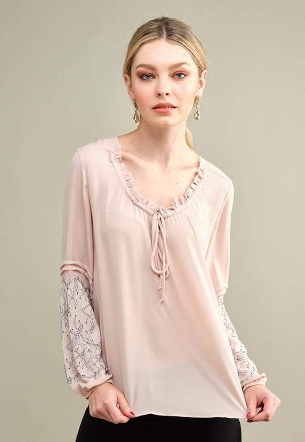Kay Celine Top XS / Soft-Blush Pleasant Top in Soft Blush