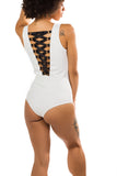 Lace Me Up Bodysuit (White)