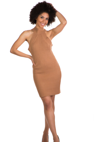 Sophisticated Dress (Tan)