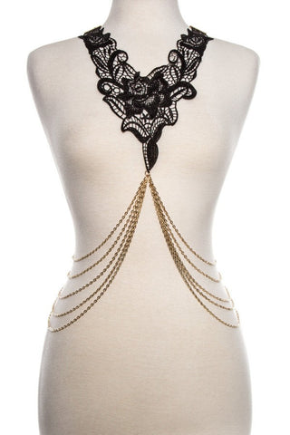 Body Chain with Lace