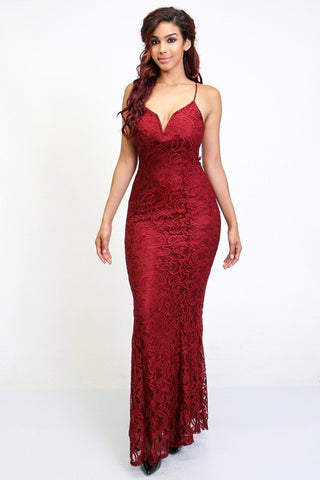 Isabella Dress (Burgundy)