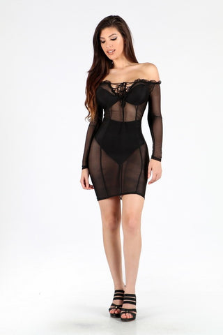 Right Through Dress (Black)