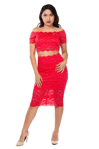 Roslyn Lace Skirt
