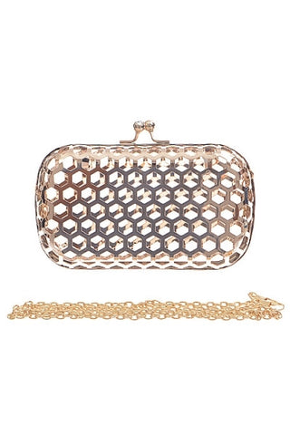 Cutout Gold Clutch