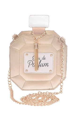 Leather Perfume Bottle Clutch