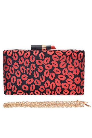 Lipstick Kiss Clutch