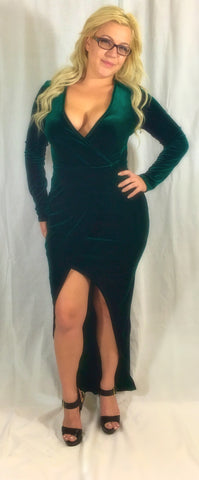 EVERGREEN VELVET DRESS