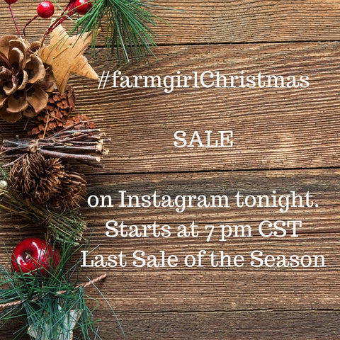 Farmgirl Christmas Sale