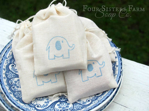 Blue Elephant Baby Shower Favors