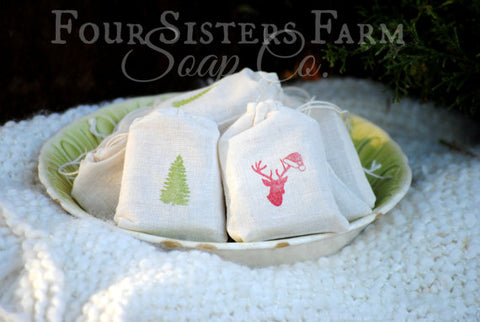 Woodland Christmas Stocking Stuffers (Soap Favors)