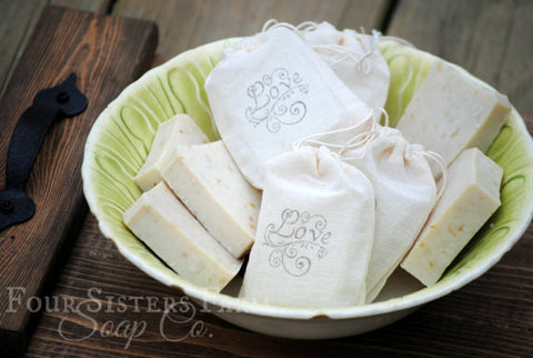 Hand Stamped Love Wedding Soap Favors