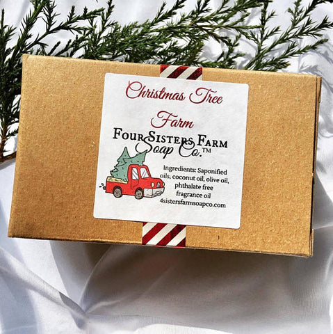 Black Friday Sale - Red Christmas Truck Christmas Tree Farm Soap