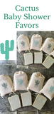 Cactus Baby Shower Favors