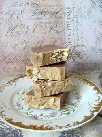 cinnamon oatmeal soap sample