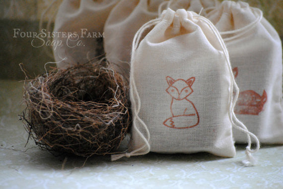 Woodland Fox Baby Shower Soap Favors Four Sisters Farm Soap