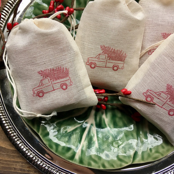 Red Christmas Truck Soap Favors