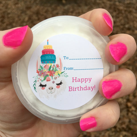 Birthday Llama Cake Scented Body Butter