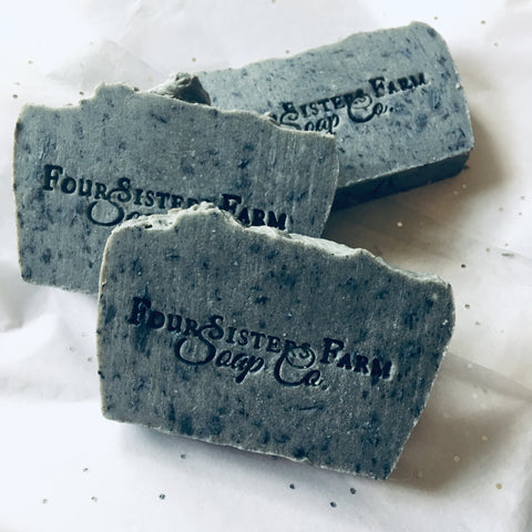 rosemary charcoal face soap
