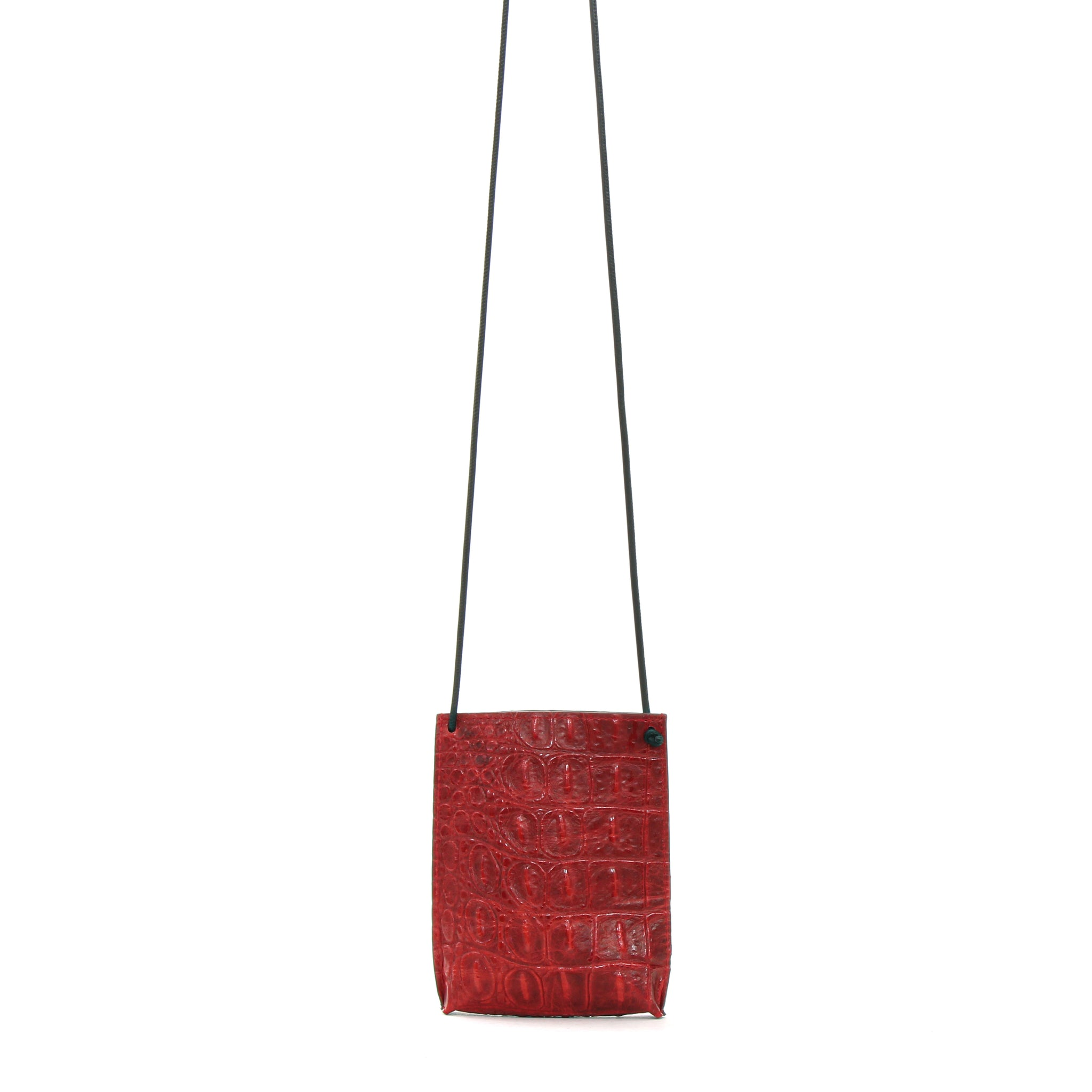 CELL POUCH RED EMBOSSED GATOR