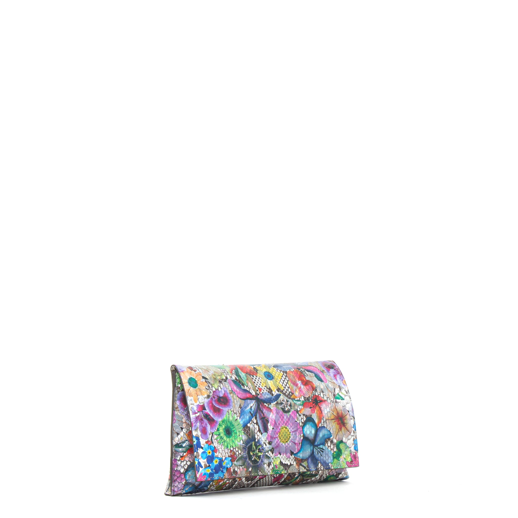 FOLDOVER CLUTCH FLORAL PYTHON