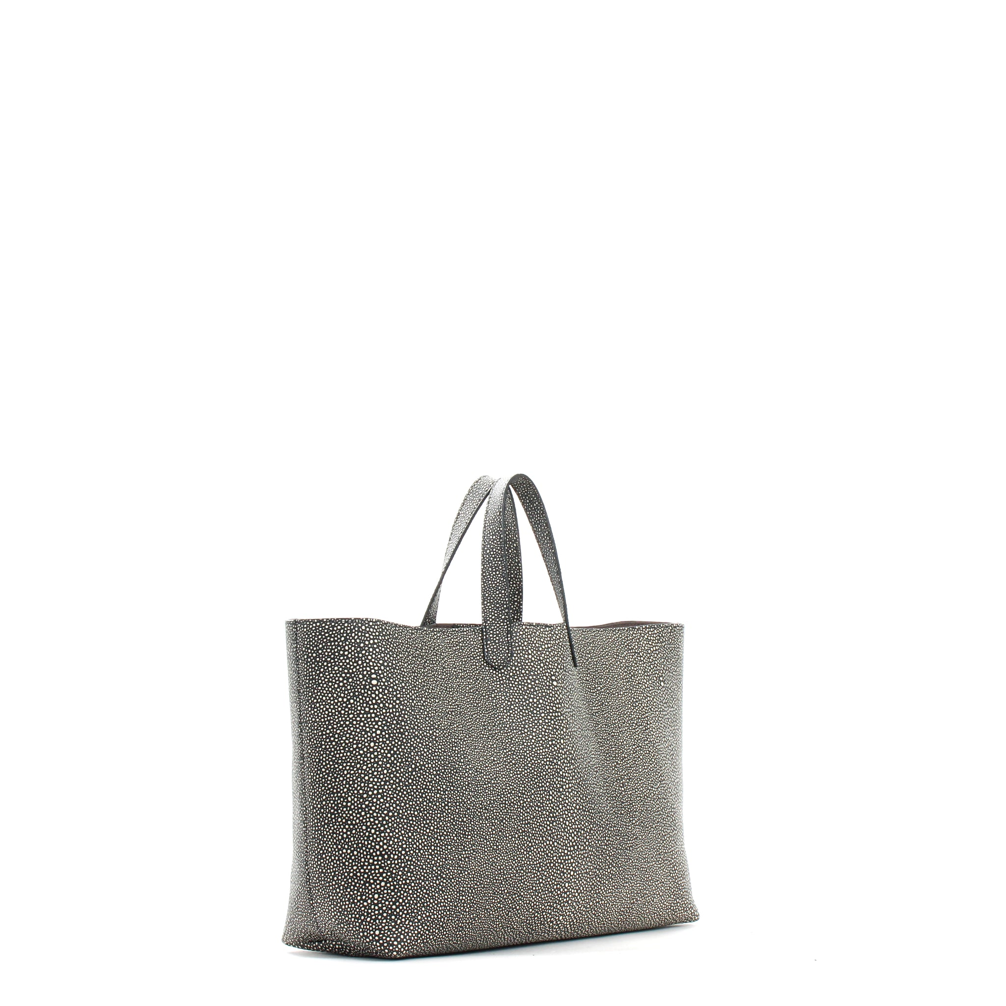 BEACH TOTE BLACK SHAGREEN