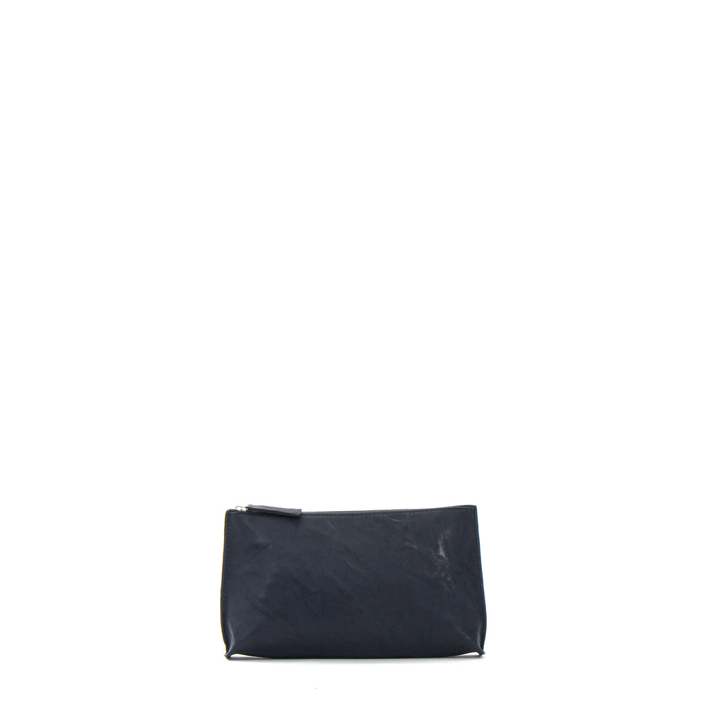 ESSENTIAL POUCH BLUE RUMPLED SHEEPSKIN