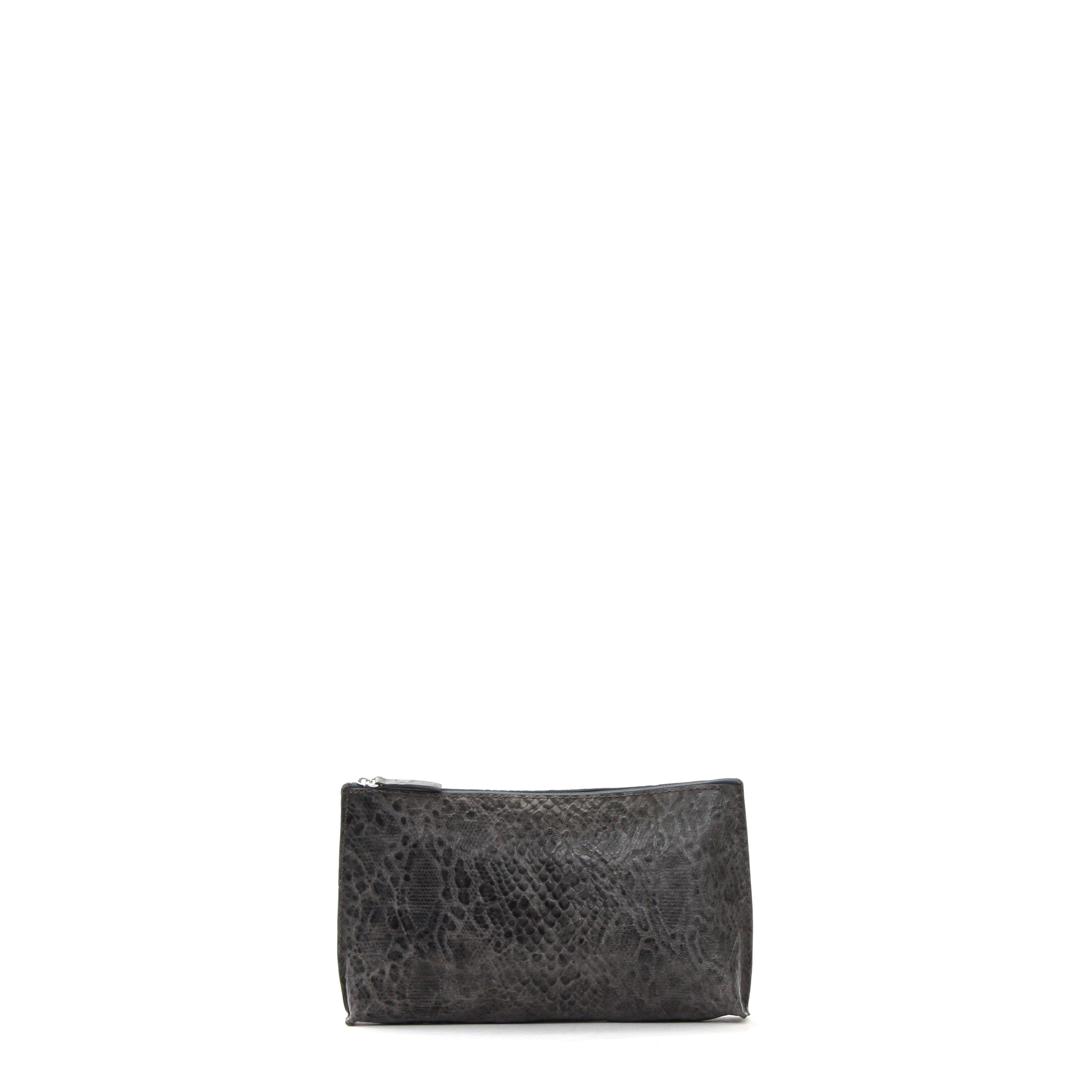 ESSENTIAL POUCH GREY SNAKE PRINT