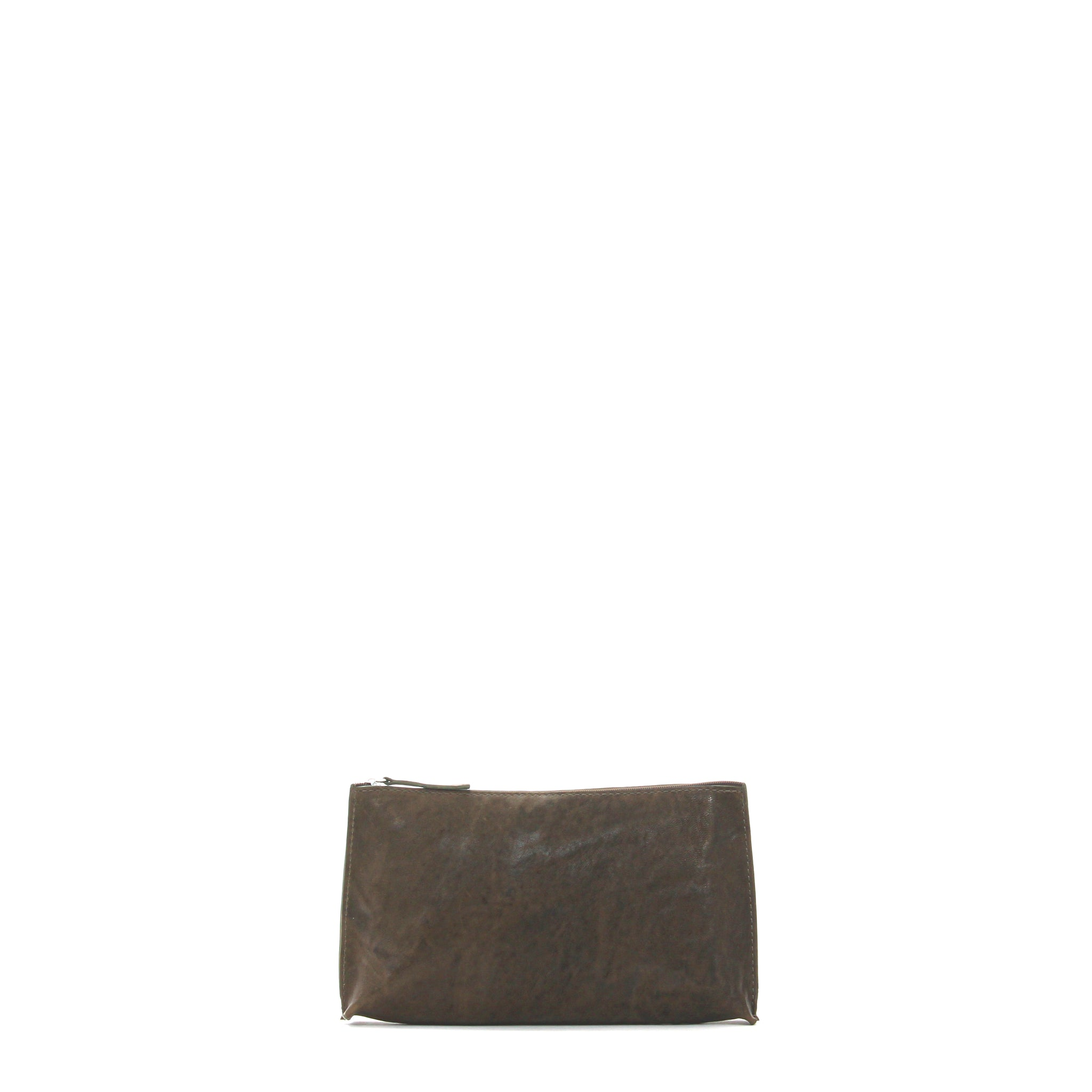 ESSENTIAL POUCH OLIVE RUMPLED SHEEPSKIN