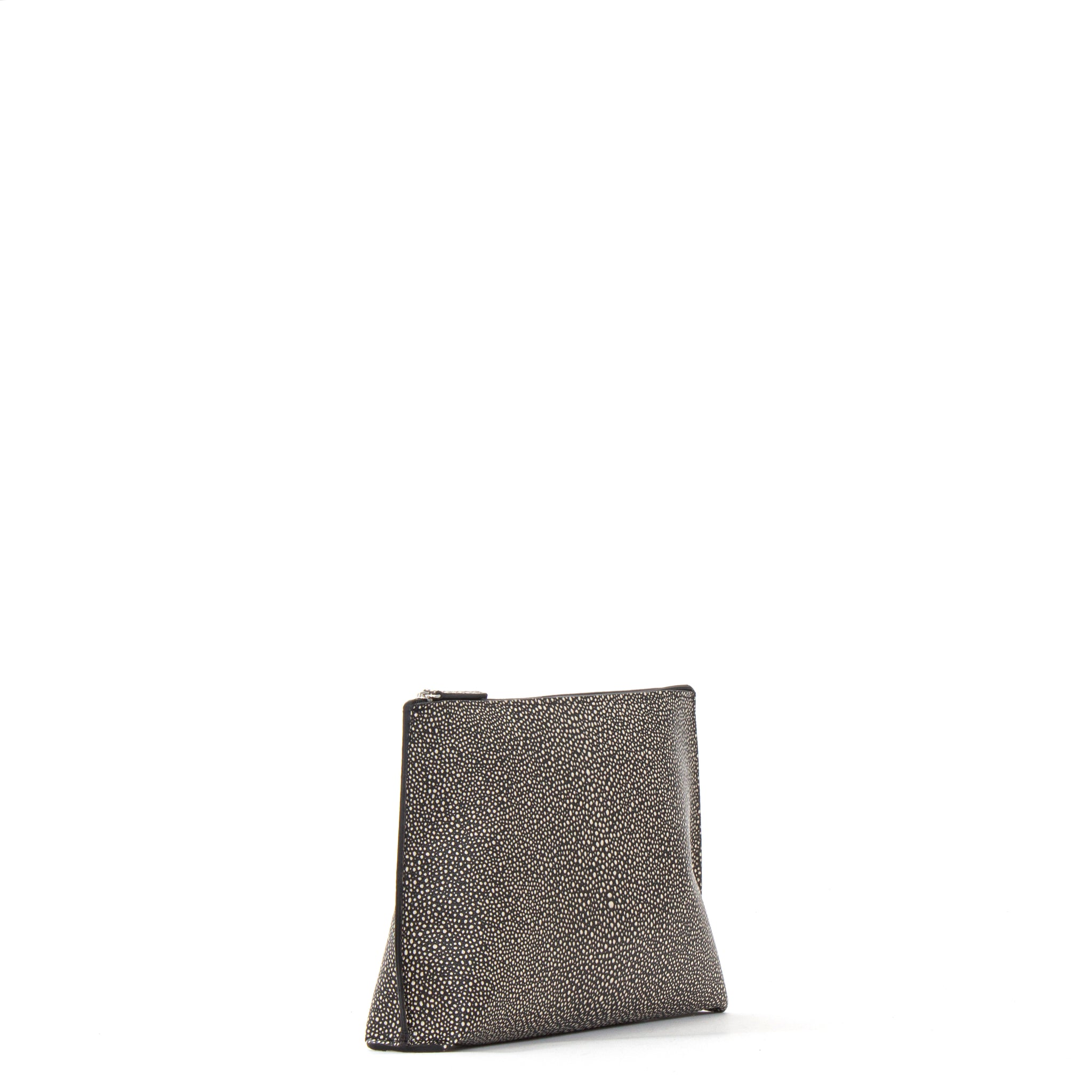 EVERYDAY POUCH BLACK SHAGREEN