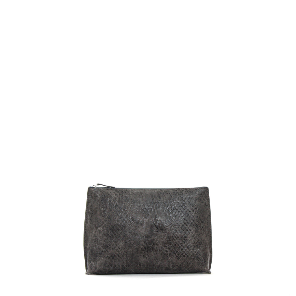 EVERYDAY POUCH GREY SNAKE PRINT