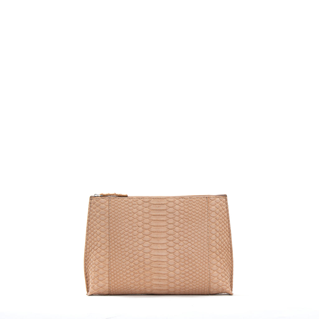EVERYDAY POUCH NUDE PYTHON